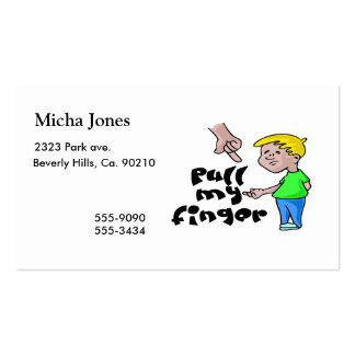Pull My Finger Double-Sided Standard Business Cards (Pack Of 100)