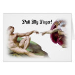 Pull My Finger Fart Humor Greeting Card