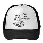 Pull My Finger Retro Housewife B&W Hat