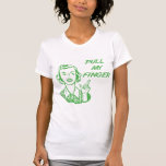 Pull My Finger Retro Housewife Green T-shirt