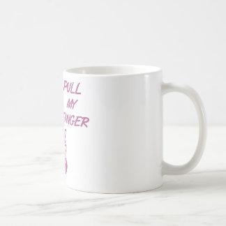 Pull My Finger Retro Housewife Pink Classic White Coffee Mug