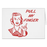 Pull My Finger Retro Housewife Red Cards