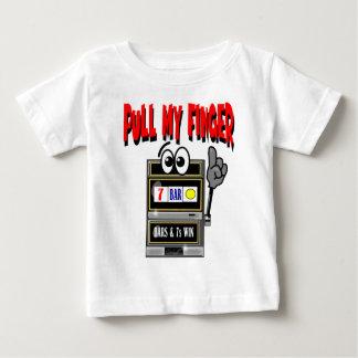 Pull My Finger Slot Machine Baby T-Shirt