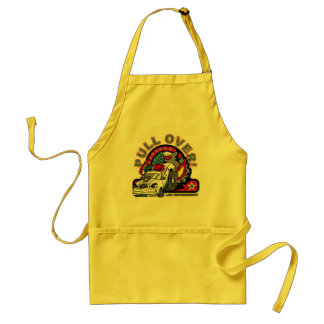 Pull Over Cop Car Adult Apron