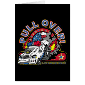 Pull Over Cop Car Greeting Card
