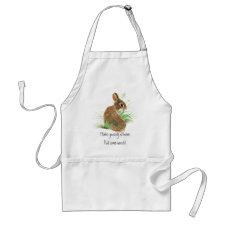 Pull some Weeds, Gardening, Rabbit, Bunny, garden apron