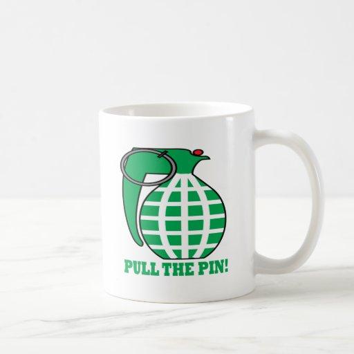 Pull The Pin Classic White Coffee Mug