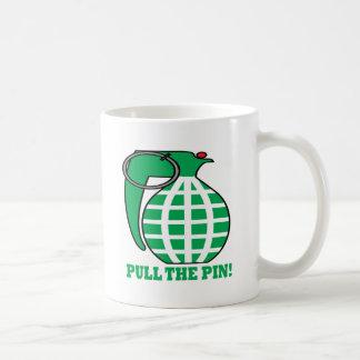 Pull the Pin Tazas De Café