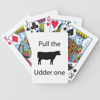 Pull the udder one bicycle playing cards