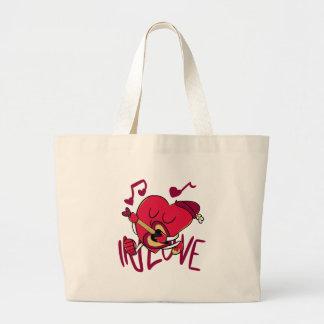 Pull those Heartstrings Canvas Bag