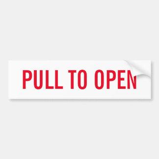 Pull to open door sign on durable vinyl sticker
