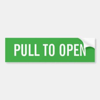 Pull to open door sign on durable vinyl stickers