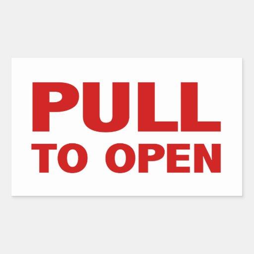 Pull to Open Door Sign Stickers