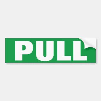PULL to open door window sign on vinyl sticker