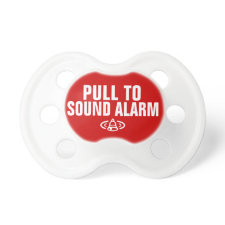 Pull to sound alarm baby pacifiers