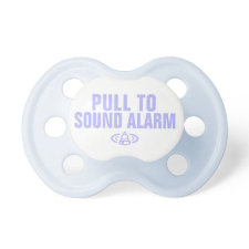 Pull to sound alarm - Blue Baby Pacifier