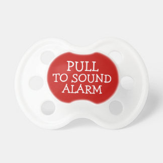Pull To Sound Alarm Funny BooginHead Pacifier