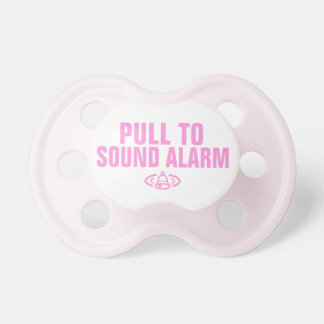 Pull to sound alarm - Pink BooginHead Pacifier