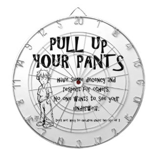 Pull Up Your Pants Dart Board