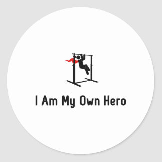 Pull Ups Hero Classic Round Sticker