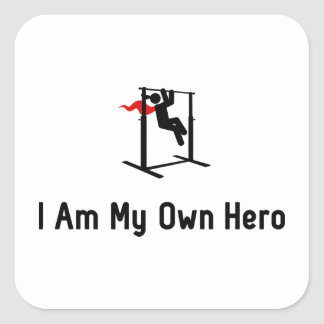 Pull Ups Hero Square Sticker
