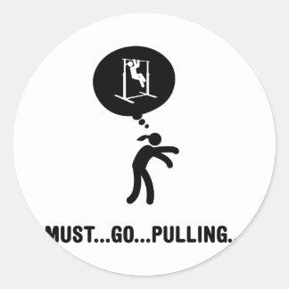 Pull-Ups Round Sticker