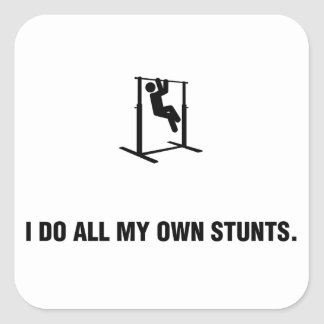 Pull-Ups Square Stickers