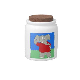 Pulla del fútbol jarra para caramelo