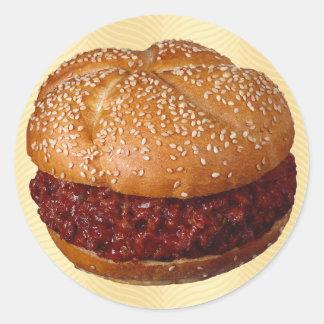 Pulled Pork Classic Round Sticker