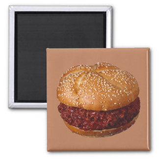Pulled Pork Sandwich 2 Inch Square Magnet
