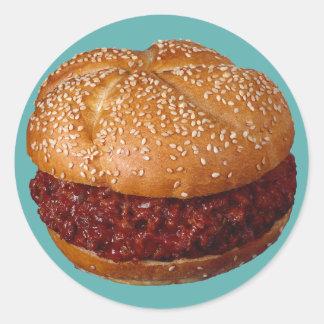Pulled Pork Sandwich Classic Round Sticker