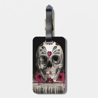 Pulled sugar, melting sugar skull bag tag