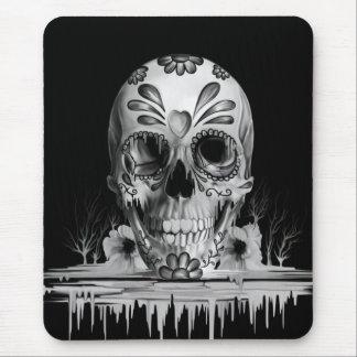 Pulled sugar, melting sugar skull mouse pad