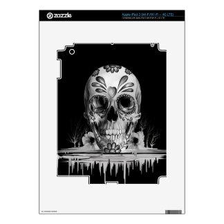 Pulled sugar melting sugar skull iPad 3 decals