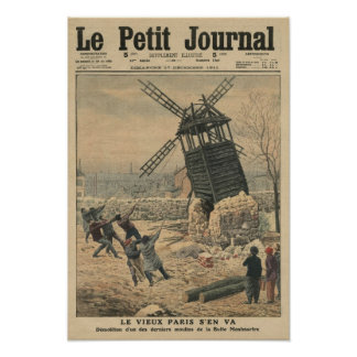 Pulling down one of the last windmills poster