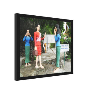 Pulling Faces Behind Your Back Canvas Print