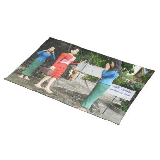 Pulling Faces Behind Your Back Cloth Placemat