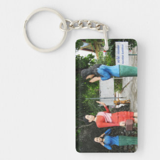 Pulling Faces Behind Your Back Double-Sided Rectangular Acrylic Keychain