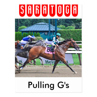 Pulling G's by Curlin Postcard