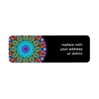 Pulling In kaleidoscope Return Address Label