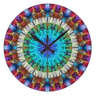 Pulling In kaleidoscope Large Clock