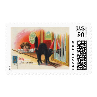 Pulling the Cat's Tail, Halloween Vintage Postage
