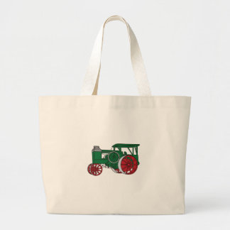 Pulling Tractor Large Tote Bag