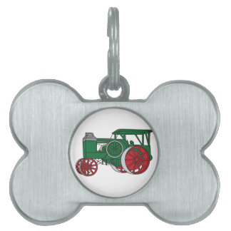 Pulling Tractor Pet ID Tag