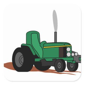 Pulling Tractor Square Sticker