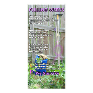 Pulling Weeds Poem Rack Card
