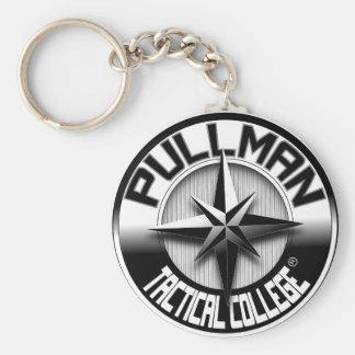 Pullman College_logo táctico Llavero Redondo Tipo Pin