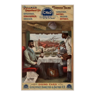 Pullman compartment cars & through trains poster