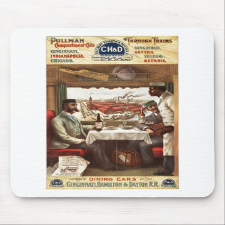 Pullman dining car on train 1894 mouse pads