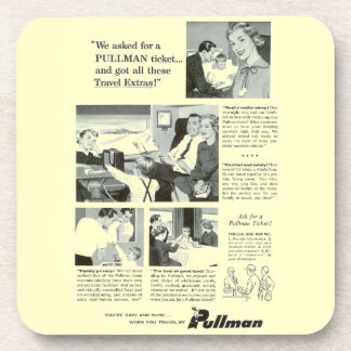 Pullman Sleeping Car for Overnight Train Travel Beverage Coaster